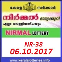 Kerala lottery result of Nirmal Lottery NR-38 on 06-10-2017