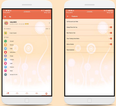BBM Mod Candy Light v3.3.2.30 Apk Unclone & Clone Terbaru