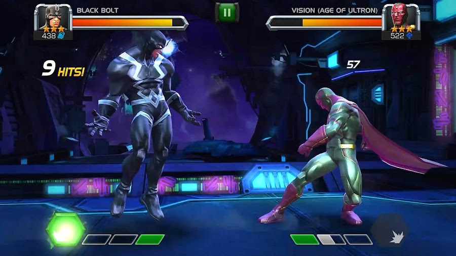 marvel contest of champions black bolt vs vision