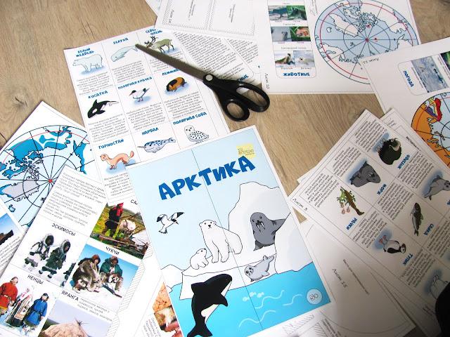 лэпбук Арктика и Северный полюс. файлы для распечатки