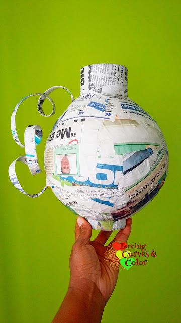 Paper-mache-vase