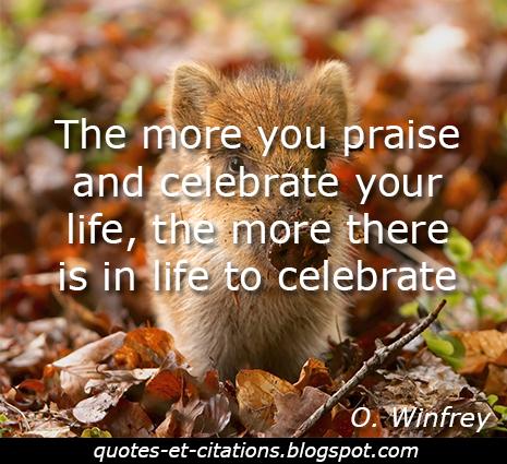 citation célébrer la vie