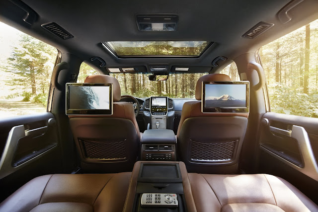 View from rear seats in 2019 Toyota Land Cruiser