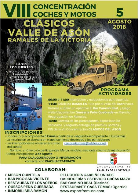 VIII Concentración coches y motos clásicos Valle de Asón