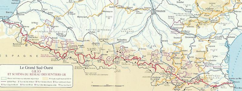 kart over pyreneene Tarjei's Villmark: Forberedelse til ny langtur: GR10 kart over pyreneene