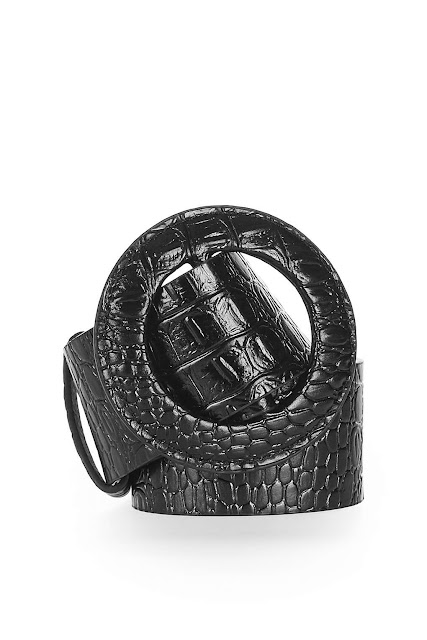 crocodile leather ring belt topshop