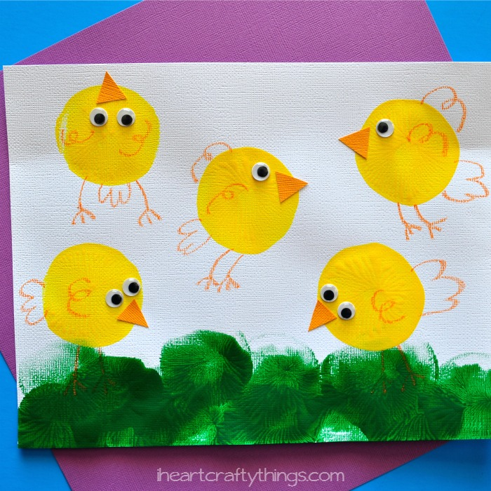 balloon painting chick craft - Painting Images For Kids