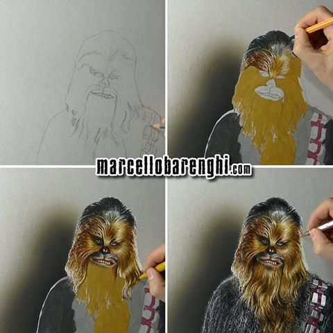 09-Chewbacca-Marcello-Barenghi-Realistic-Movie-Character-Drawings-www-designstack-co