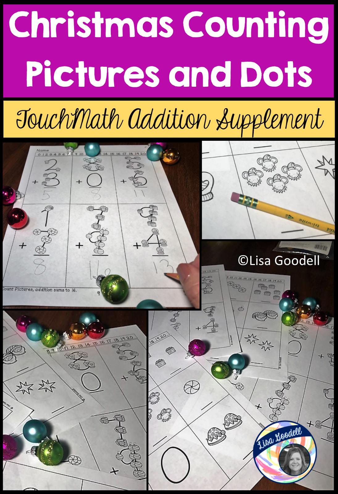 Lisa Goodell Christmas Touchmath Supplement Worksheet Packet