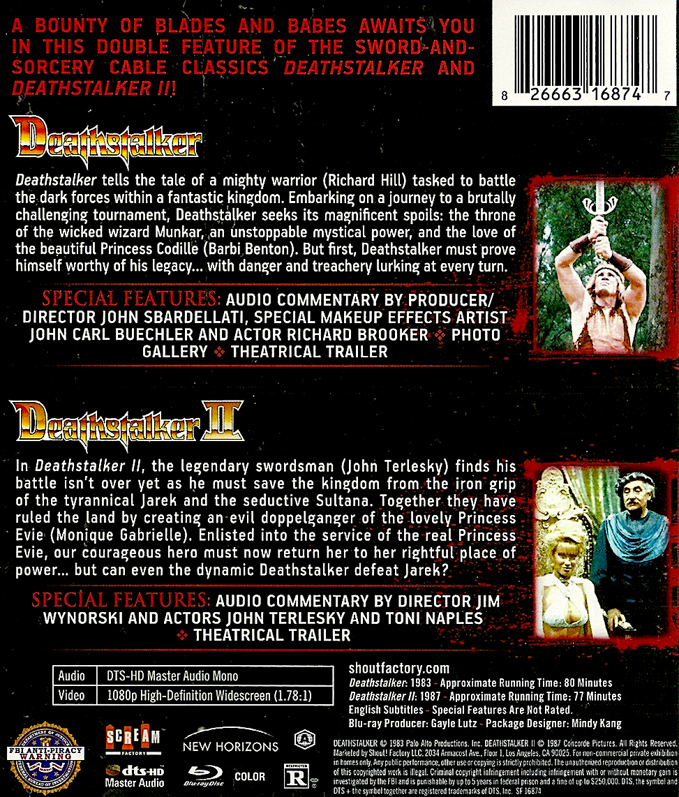 Blu-Ray And Dvd Covers Scream Factory Double Feature Blu -7423