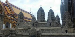 Gran Palacio de Bangkok. Maqueta de Angkor Wat.