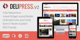 Delipress WordPress Nulled Theme Free Download - Magazine and Review