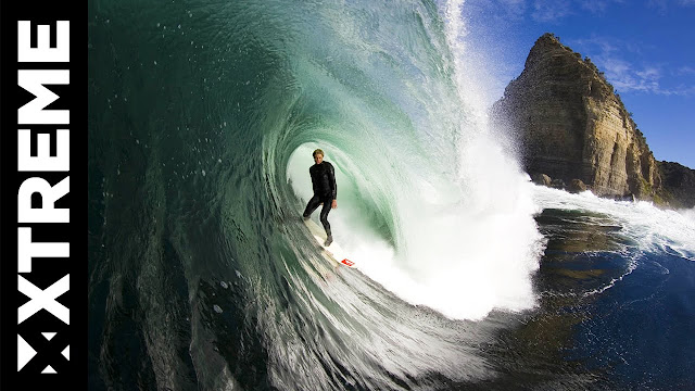 Shipstern Drone Operated by Surf Photographer Stu Gibson