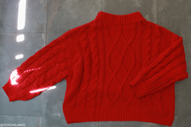 Japanese Fashion blogger,Mizhuo K,Whats NEW IN September, GU-red knit sweater