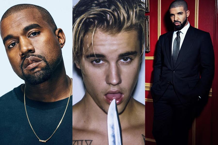 Justin Bieber, Drake, Kanye West y más no asistirán a los Grammy's 2017