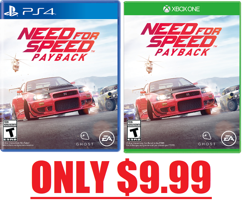 Need For Speed Payback For Ps4 Or Xbox One 9 99 Free Pickup At