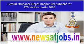 central+ordnancy+depot+kanpur+recruitment+2016