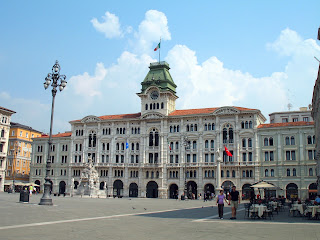 Photo of a square in Trieste