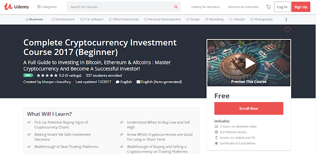 Complete Cryptocurrency Investment Course 2017 (Beginner)
