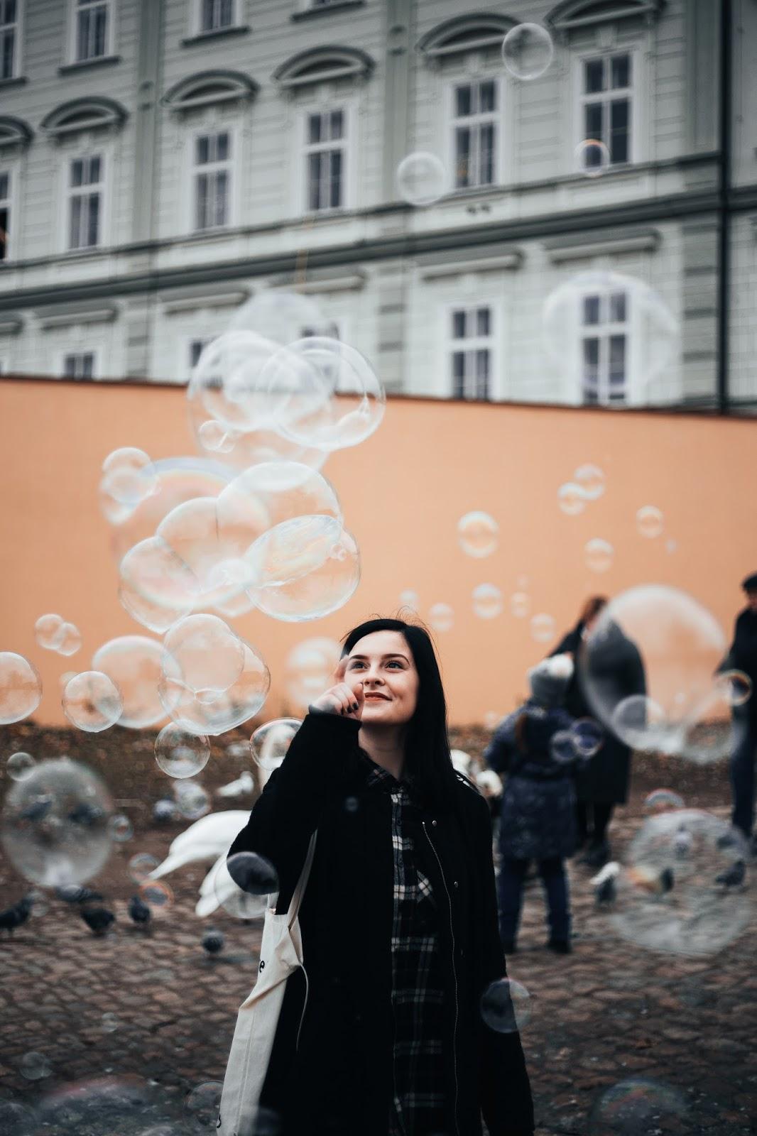 bubbles near the Charles Bridge