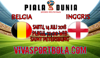Prediksi Bola Belgia vs Inggris 14 Juli 2018
