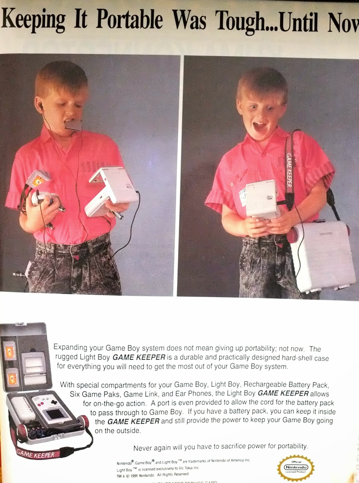 Game Keeper for Game Boy advertisement