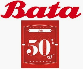 Flat 50% Off + Extra 15% on Men's / Women's / Kids Bata Footwear @ Bata Official Website (Valid till 10th Aug'14)