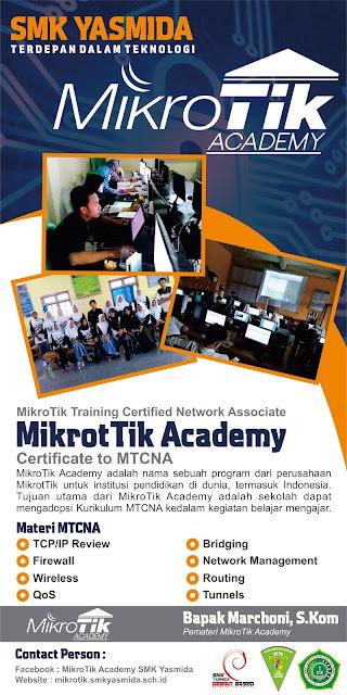Desain Banner Roll Up MikroTik Academy SMK Yasmida