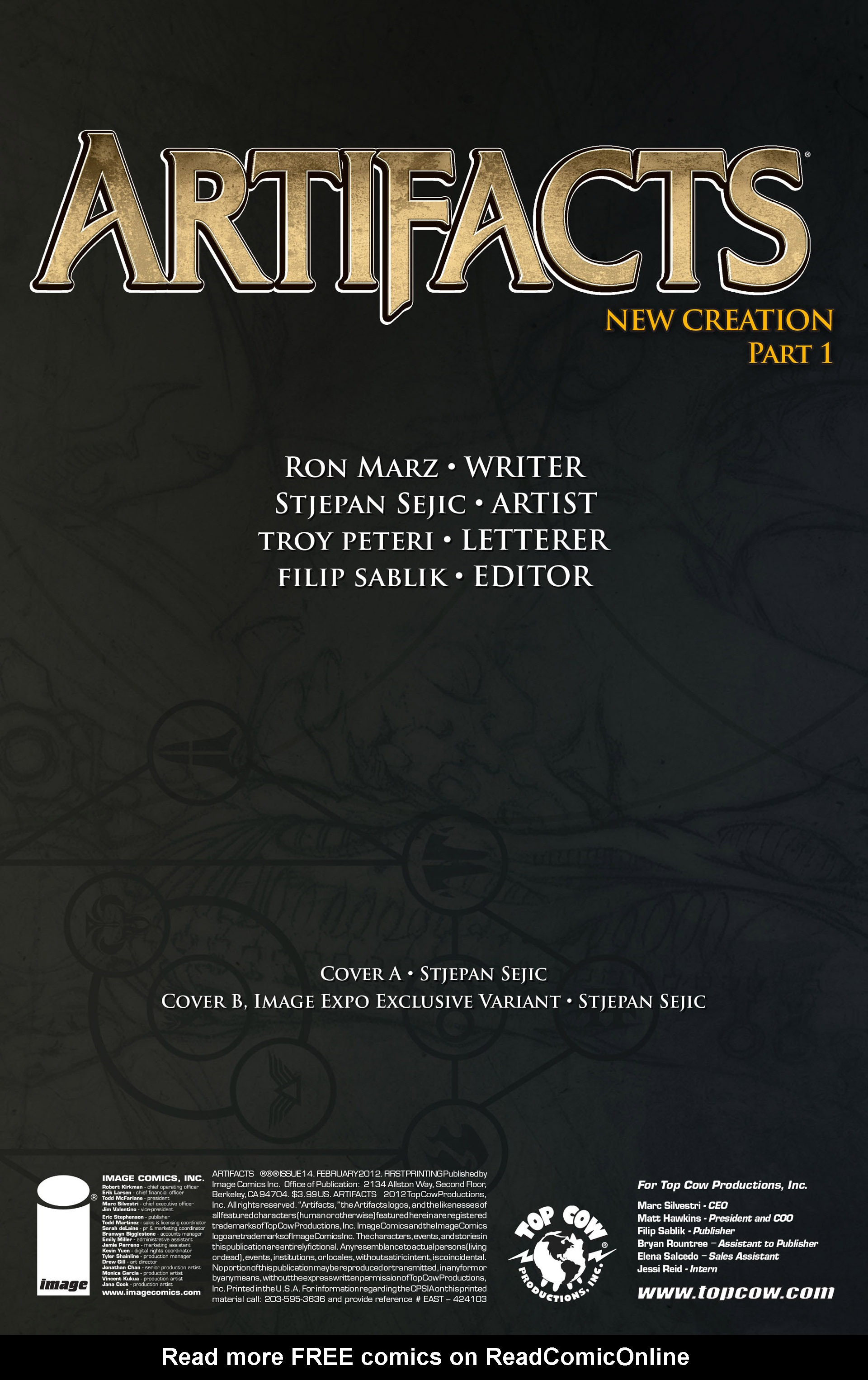 Read online Artifacts comic -  Issue #14 - 2