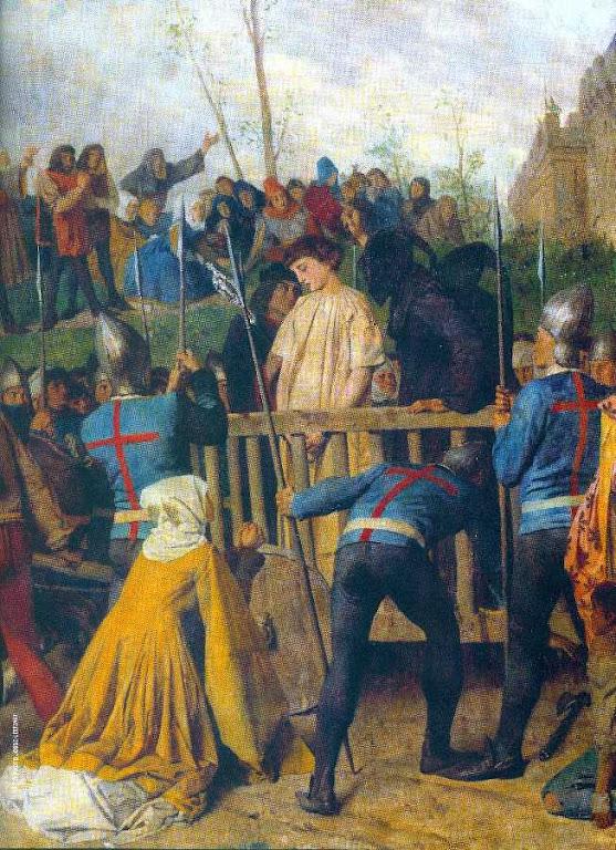 Santa Joana d'Arco levada à fogueira do crime iniquo