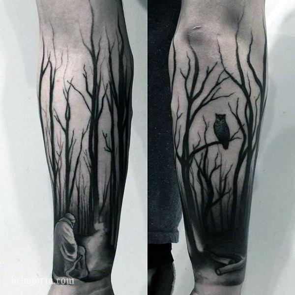 Espectaculares Tatuajes De Bosques Y Su Significado Belagoria La Web De Los Tatuajes