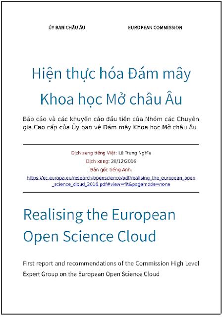 Hiện thực hóa Đám mây Khoa học Mở châu Âu - Bản dịch sang tiếng Việt