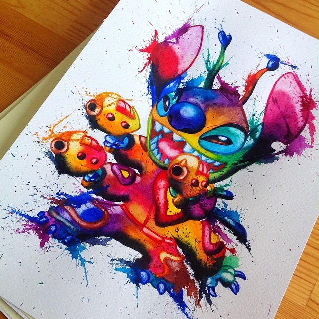 24-Stitch-Lisa-Marie-Melin-LittleGeekyFanArt-Fan-Art-Comic-Manga-and-Video-Game-Paintings-www-designstack-co