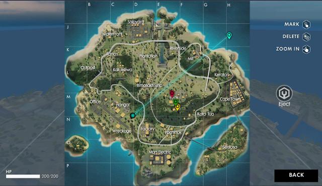 Terjun di tengah-tengah map