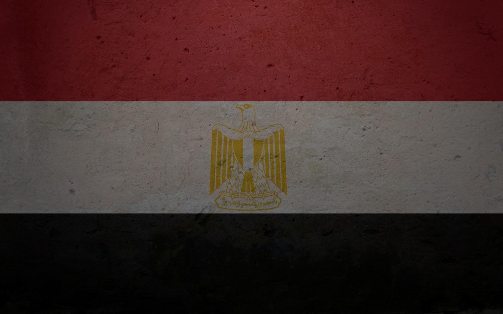 خلفية علم جمهورية مصر العربية  تضم النسر واللون الاحمر والابيض والاسود