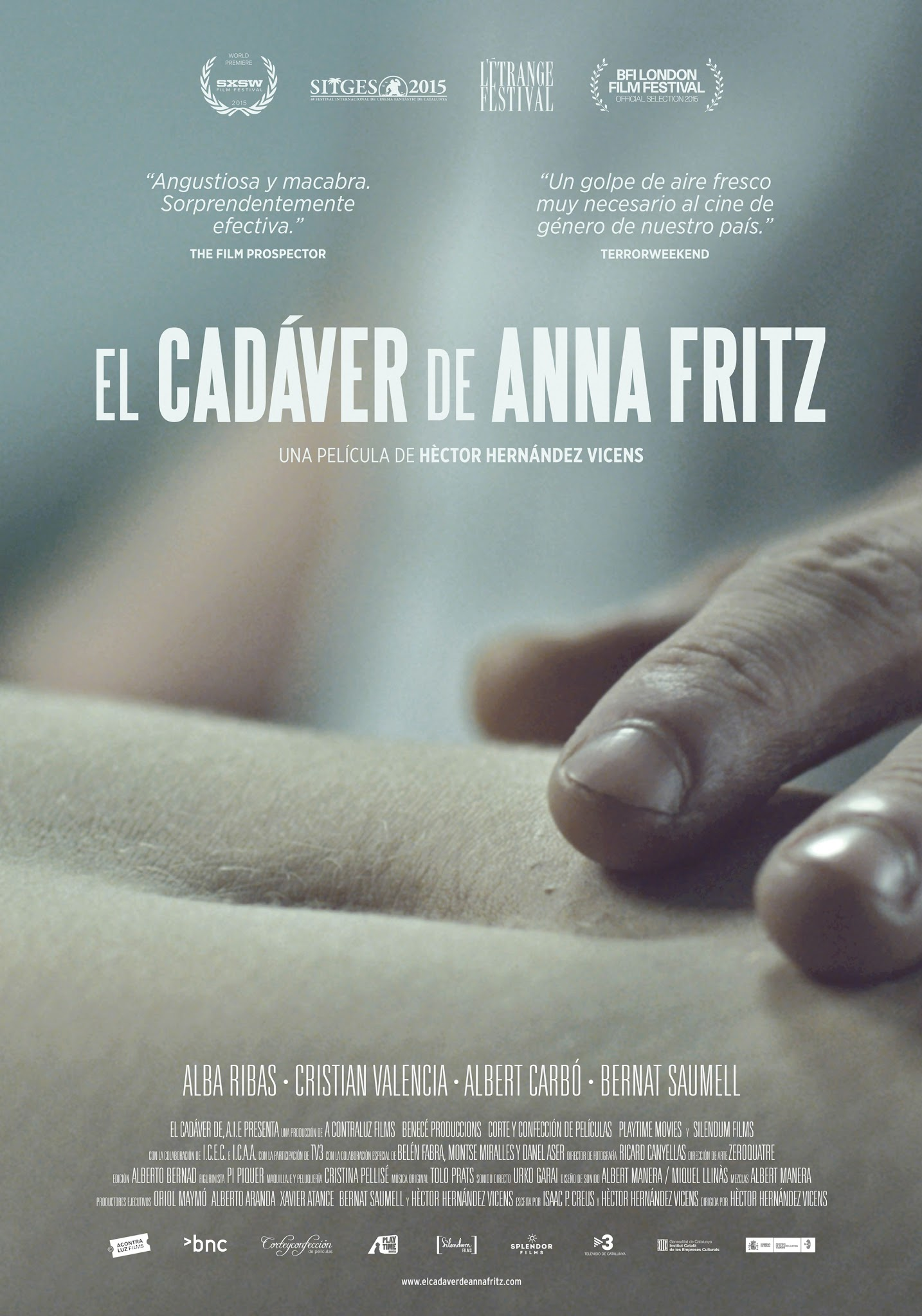 THE CORPSE OF ANNA FRITZ ( 2015 Alba Ribas ) aka El