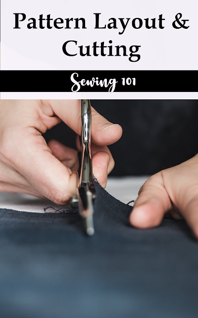 How to read a sewing pattern and understand fabric layout for cutting a sewing pattern  with mirror images and matching selvages and grainline.