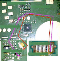 Follow This Image you can Solve Your Nokia 114 Mobile Phone Display light Problem. Check your Line use Avo Miter. if you see any line is broken re connect your line use copier coil. you can solve your problem.