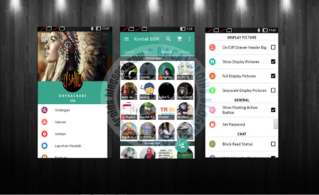 download BBM Mod 2.13.1.13 Thema GreenLite Flat With List View Animation