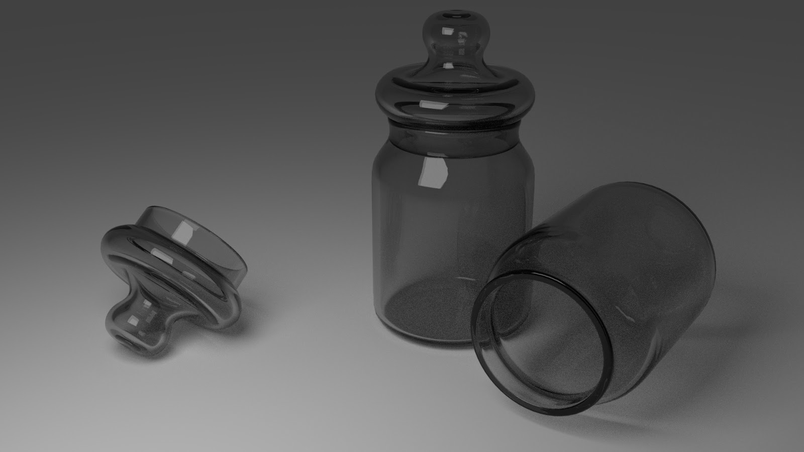Free 3D Glass Jar .blend file