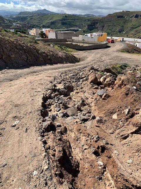 Manifestación por mal estado carretera Casa Ayala, Las Palmas de Gran Canaria