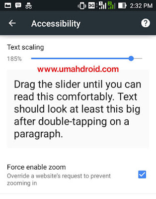 Setting Font Size dan Force Enable Zoom Chrome Android