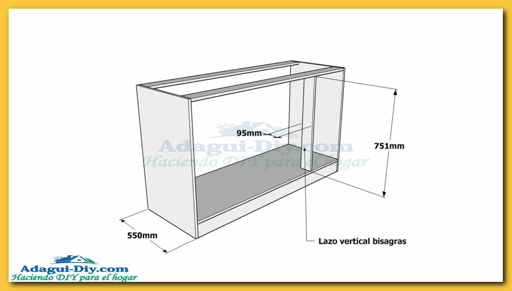Como hacer muebles de cocina web del bricolaje dise o diy - Dimensiones muebles cocina ...
