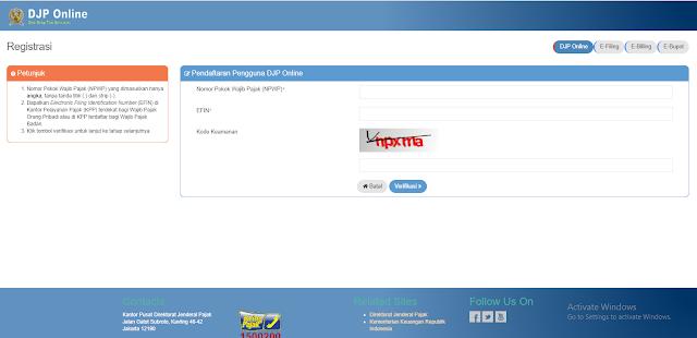 Cara Daftar Efiling di Situs DJP Online Untuk Lapor SPT Pajak Online