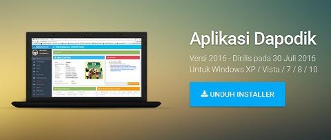 Telah Rilis Aplikasi Dapodik Versi 2016 SD/SMP/SLB dan SMA/SMK, Kunjungi dapo.dikdasmen.kemdikbud.go.id