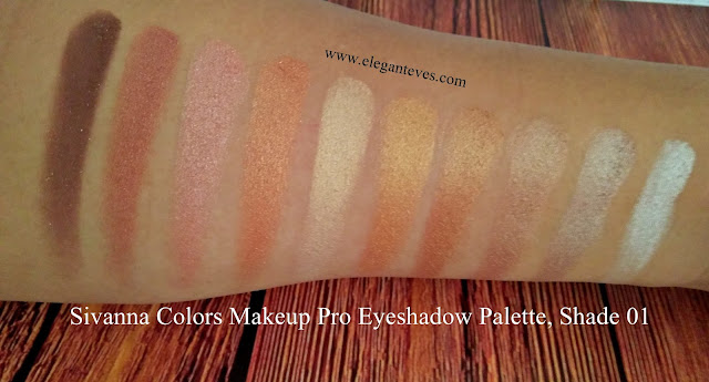 Sivanna Colors Makeup Studio Pro Eyeshadow palette 01 review swatches