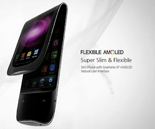 Layar lipat Samsung super flexible AMOLED