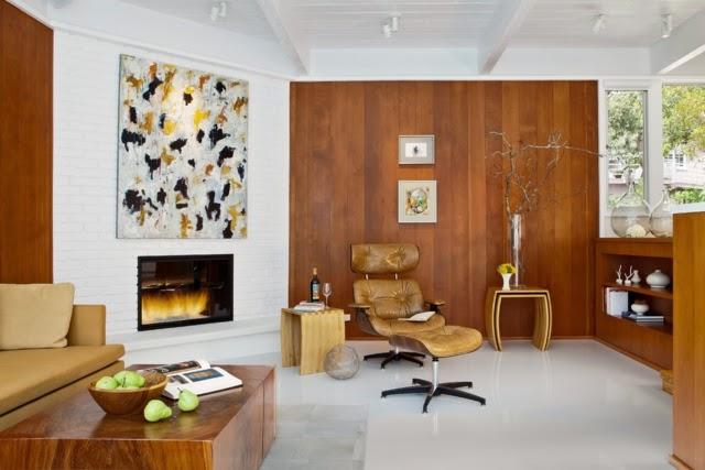 sala estilo rústico moderno