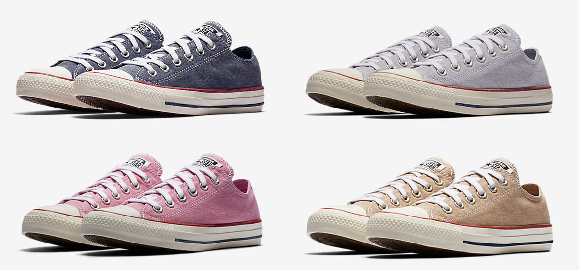 29b7e36402ae97  55) + Free Ship Converse Chuck Taylor All Star Stonewashed Low Top Sneakers !