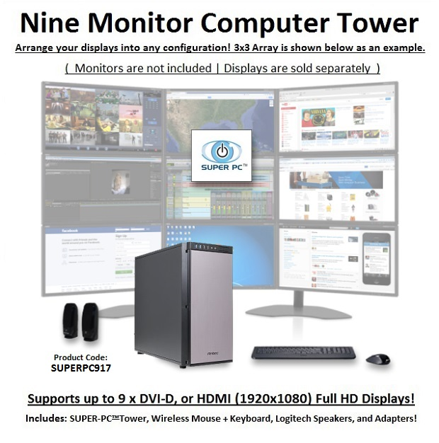 SUPER PC Nine Monitor Computer System